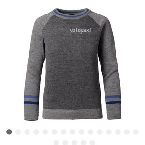 Cotopaxi Libre Sweater Dusk Gray and blue
